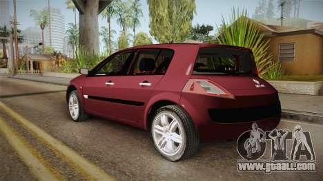 Renault Megane Hatchback v1.1 for GTA San Andreas left view