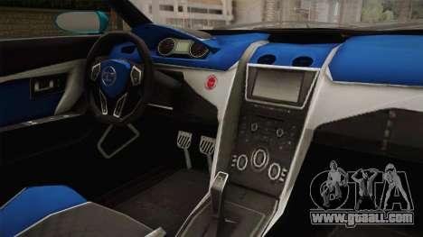 GTA 5 Truffade Nero Spyder IVF for GTA San Andreas inner view