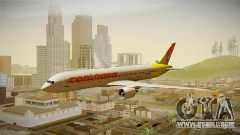 Boeing 787 Conviasa for GTA San Andreas back left view