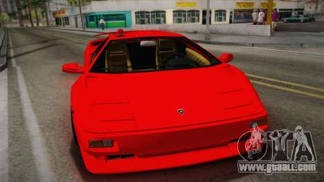 Lamborghini Diablo VT FBI 1995 for GTA San Andreas right view