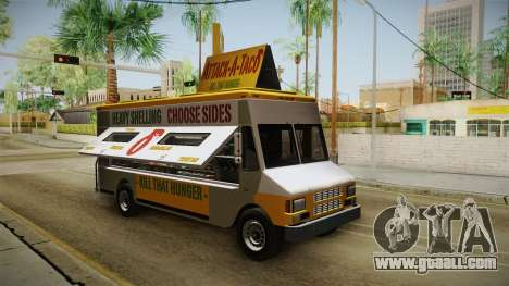 GTA 5 Brute Taco Van IVF for GTA San Andreas right view