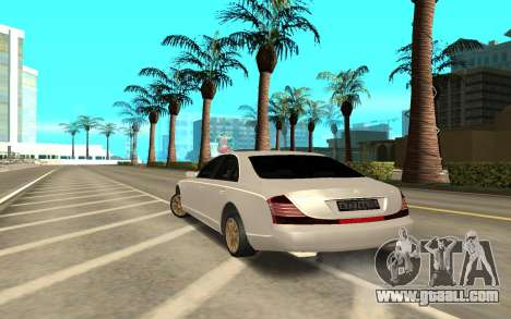 Maybach for GTA San Andreas back left view