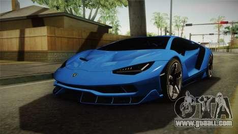 Lamborghini Centenario for GTA San Andreas