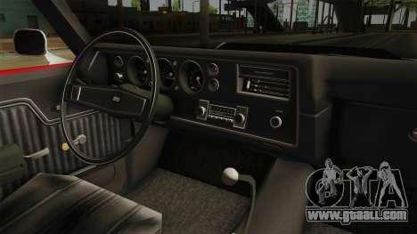 Chevrolet Chevelle SS 1970 for GTA San Andreas inner view
