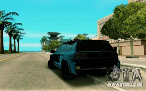 Toyota Land Cruiser 200 for GTA San Andreas back left view