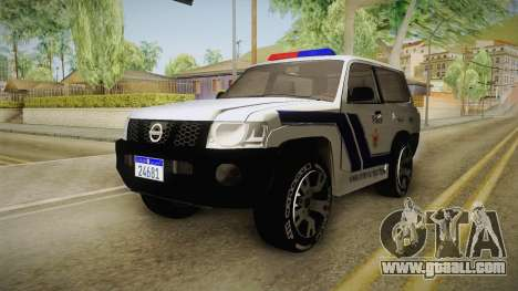 Nissan Patrol Y61 Police for GTA San Andreas right view
