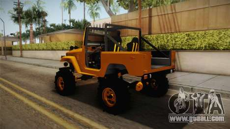 Toyota Land Cruiser Fj40 1978 Off Road for GTA San Andreas back left view