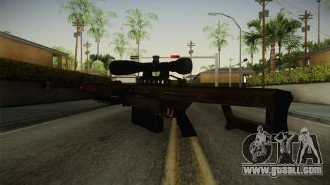 CoD 4: MW - Barrett M82 Remastered for GTA San Andreas third screenshot