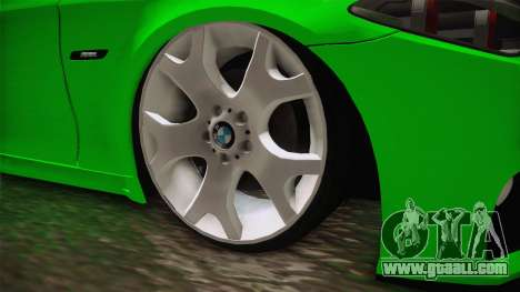 BMW M5 F10 Hulk for GTA San Andreas back view