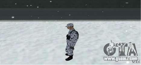 Winter Skin (Army) 1.1 for GTA San Andreas third screenshot