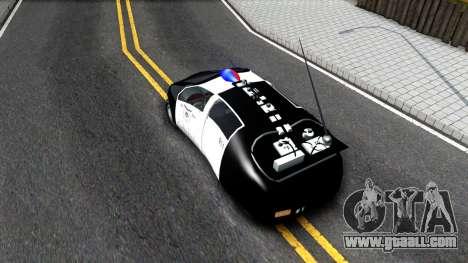 Alien Police San Fierro for GTA San Andreas back view