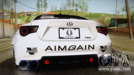 Scion FR-S Aimgain for GTA San Andreas inner view