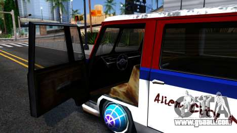 Alien Camper for GTA San Andreas inner view