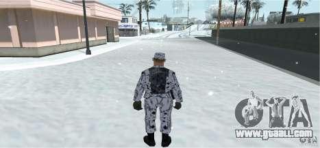 Winter Skin (Army) 1.1 for GTA San Andreas second screenshot