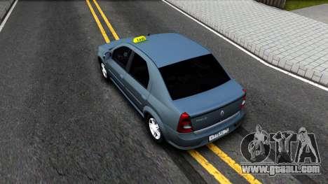 Renault Logan Taxi for GTA San Andreas back view