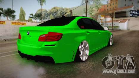 BMW M5 F10 Hulk for GTA San Andreas back left view