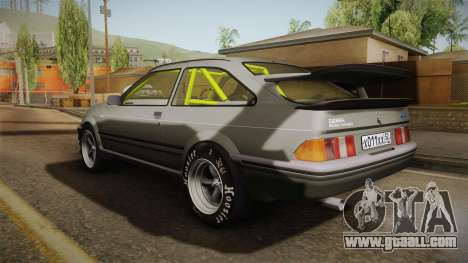 Ford Sierra RS500 Cosworth Drag for GTA San Andreas back left view