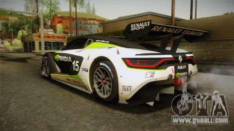 Renault Sport R.S.01 PJ2 for GTA San Andreas interior