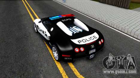 Bugatti Veyron NFS HP Police for GTA San Andreas back view