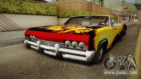 3 New Paintjobs for Blade for GTA San Andreas back view