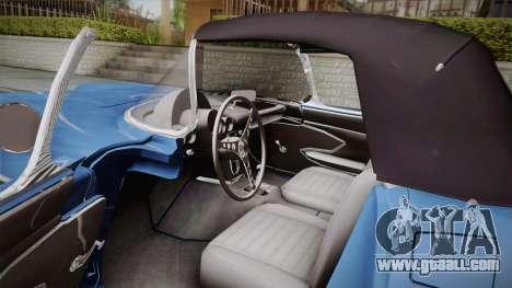 Chevrolet Corvette C1 1959 for GTA San Andreas inner view