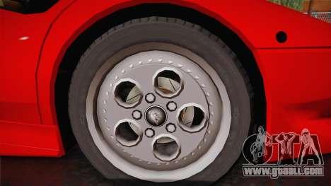 Lamborghini Diablo VT FBI 1995 for GTA San Andreas back left view