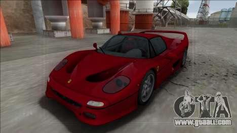 Ferrari F50 FBI for GTA San Andreas back left view