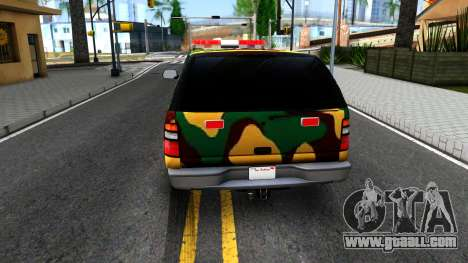 Chevrolet Suburban 2006 Camo for GTA San Andreas back left view
