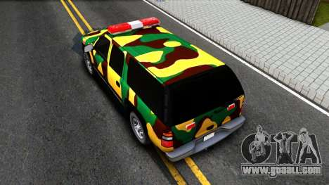 Chevrolet Suburban 2006 Camo for GTA San Andreas back view