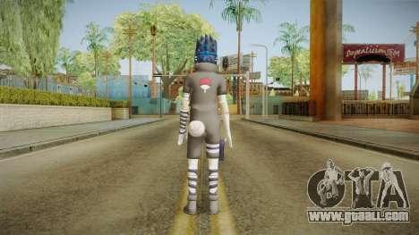 NUNS4 - Sasuke Genin Black Clothes Sharingan for GTA San Andreas third screenshot