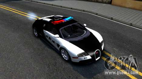 Bugatti Veyron NFS HP Police for GTA San Andreas right view
