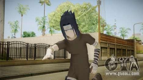 NUNS4 - Sasuke Genin Black Clothes Sharingan for GTA San Andreas