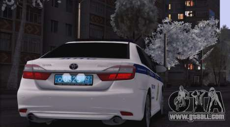 Toyota Camry for traffic police for GTA San Andreas back view