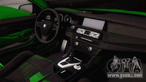 BMW M5 F10 Hulk for GTA San Andreas inner view