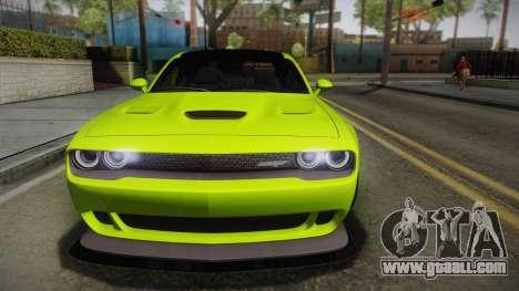 Dodge Challenger Hellcat Liberty Walk LB Perform for GTA San Andreas right view