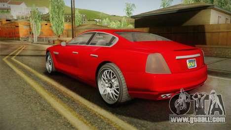 GTA 5 Albany Alpha Sedan IVF for GTA San Andreas left view