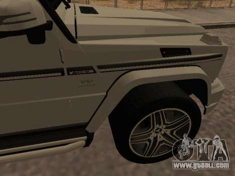 Mercedes-Benz G65 AMG Armenian for GTA San Andreas inner view