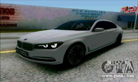 BMW 7 for GTA San Andreas right view