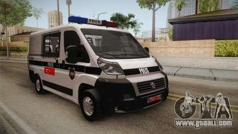 Fiat Ducato Police for GTA San Andreas
