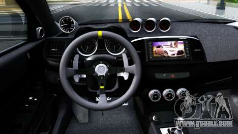 Mitsubishi Lancer X Evolution for GTA San Andreas inner view