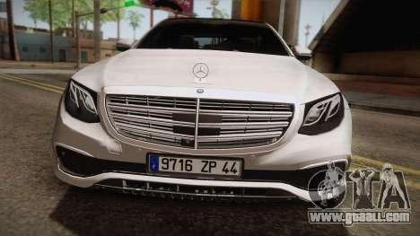 Mercedes-Benz E350e 2016 for GTA San Andreas back left view