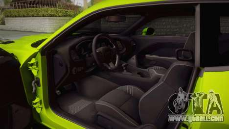 Dodge Challenger Hellcat Liberty Walk LB Perform for GTA San Andreas inner view