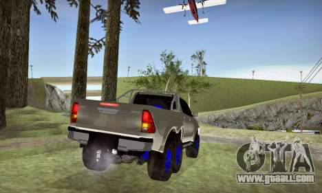 Toyota Hilux Arctic Trucks 6x6 for GTA San Andreas inner view
