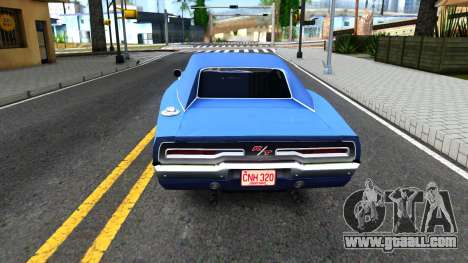 Dodge Charger 1969 for GTA San Andreas back left view