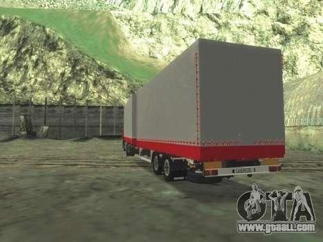 Trailer Chereau for MAN F2000 for GTA San Andreas