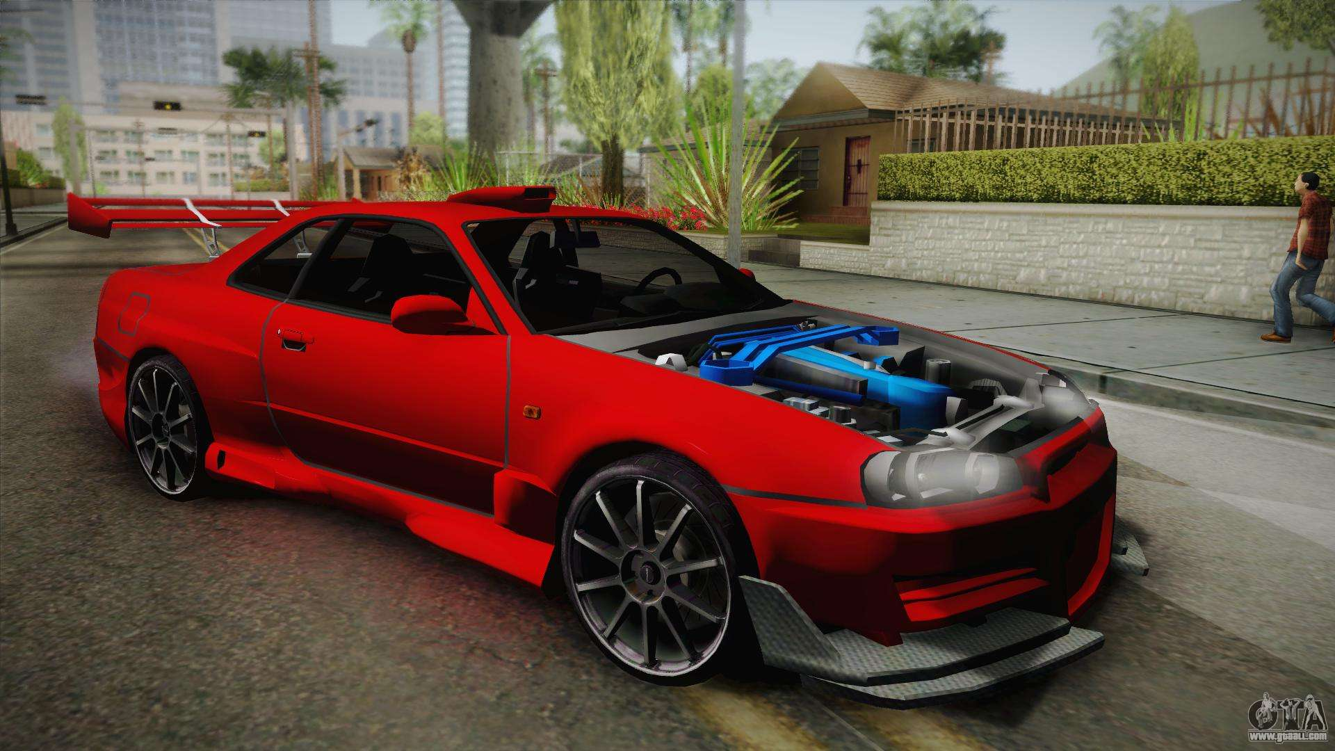 Nissan Skyline R34 Tuned For Gta San Andreas