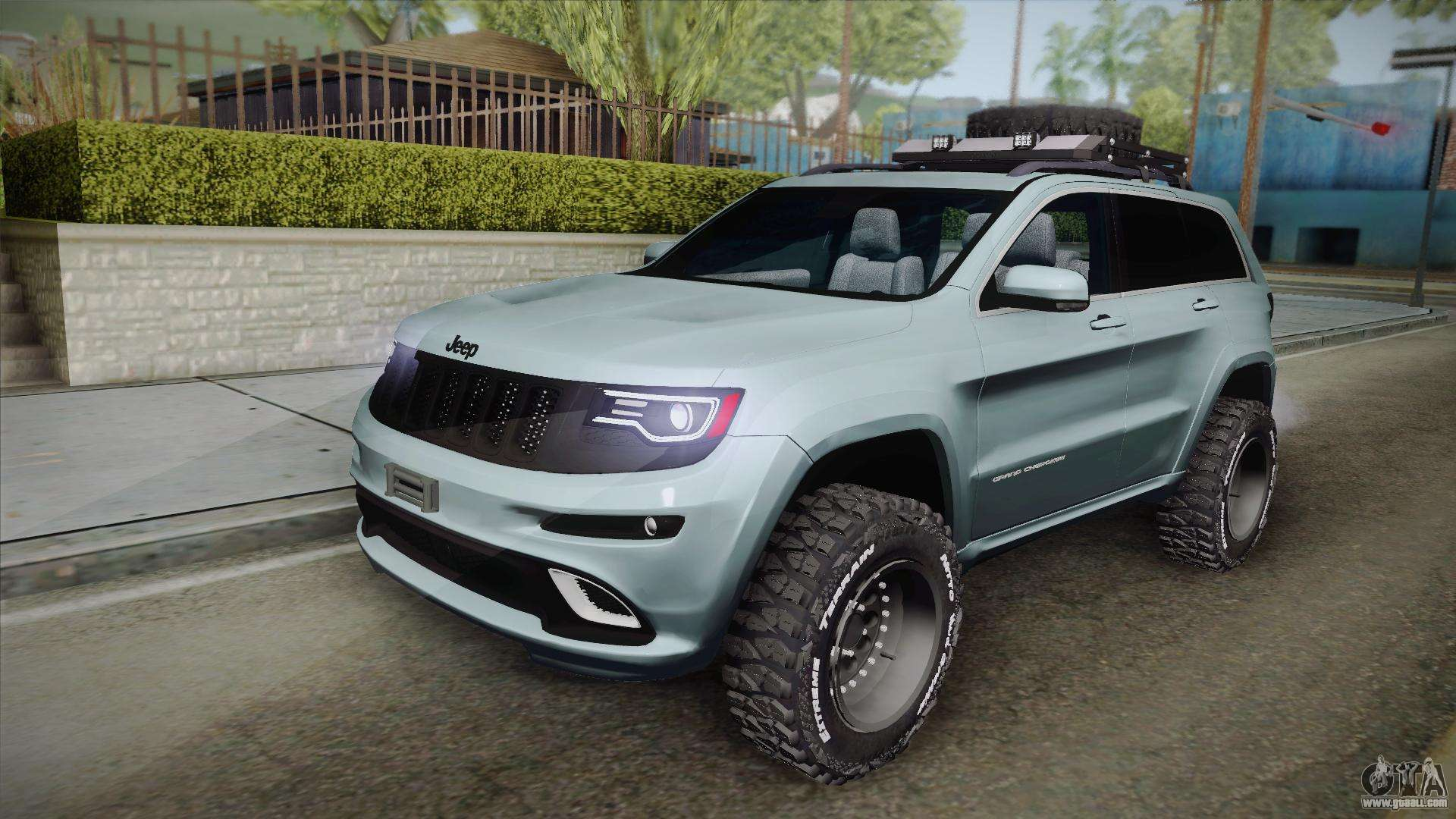 Black Jeep Cherokee >> Jeep Grand Cherokee SRT Lifted for GTA San Andreas