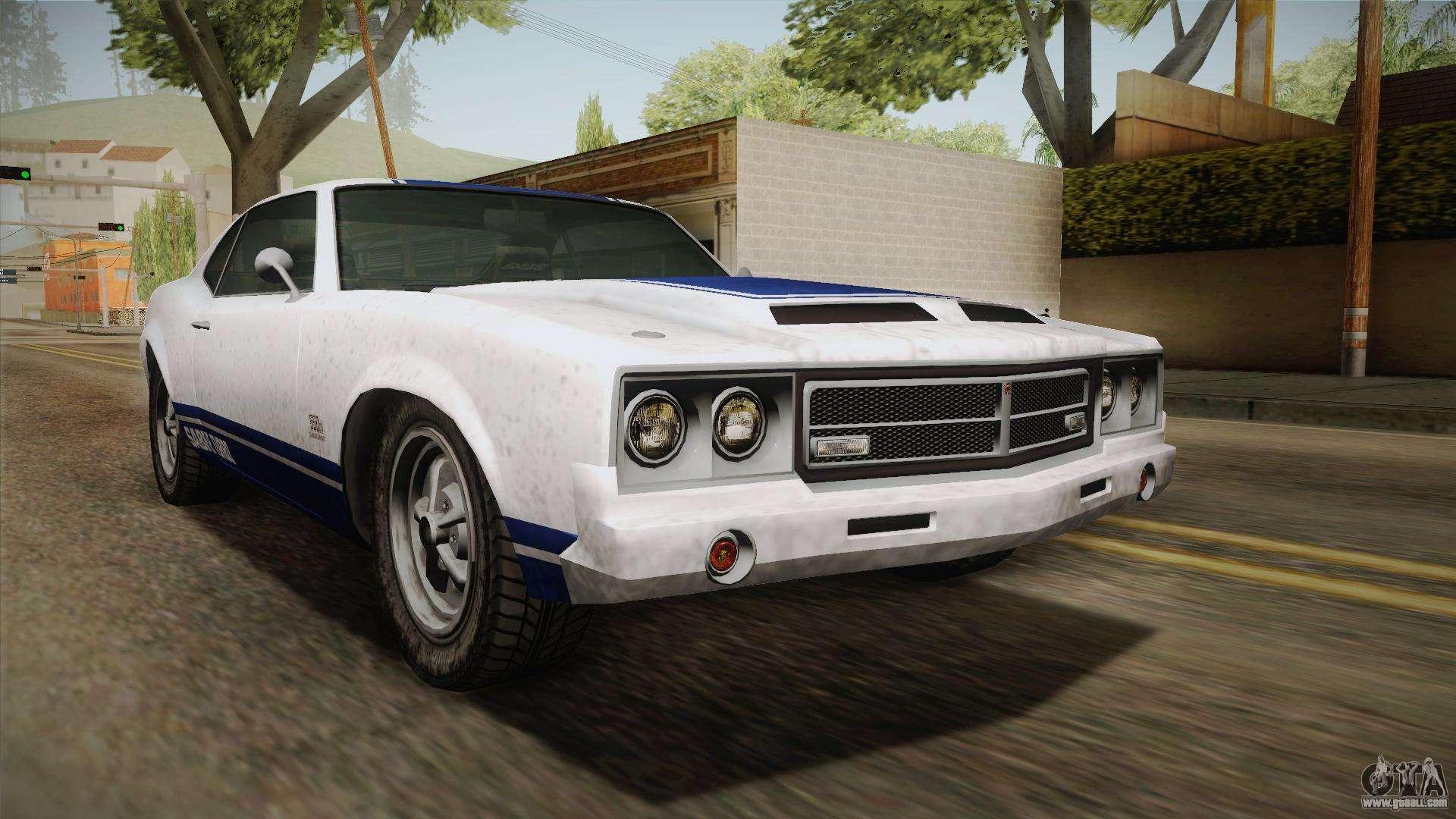 GTA 5 Declasse Sabre GT Painted Bumpers for GTA San Andreas