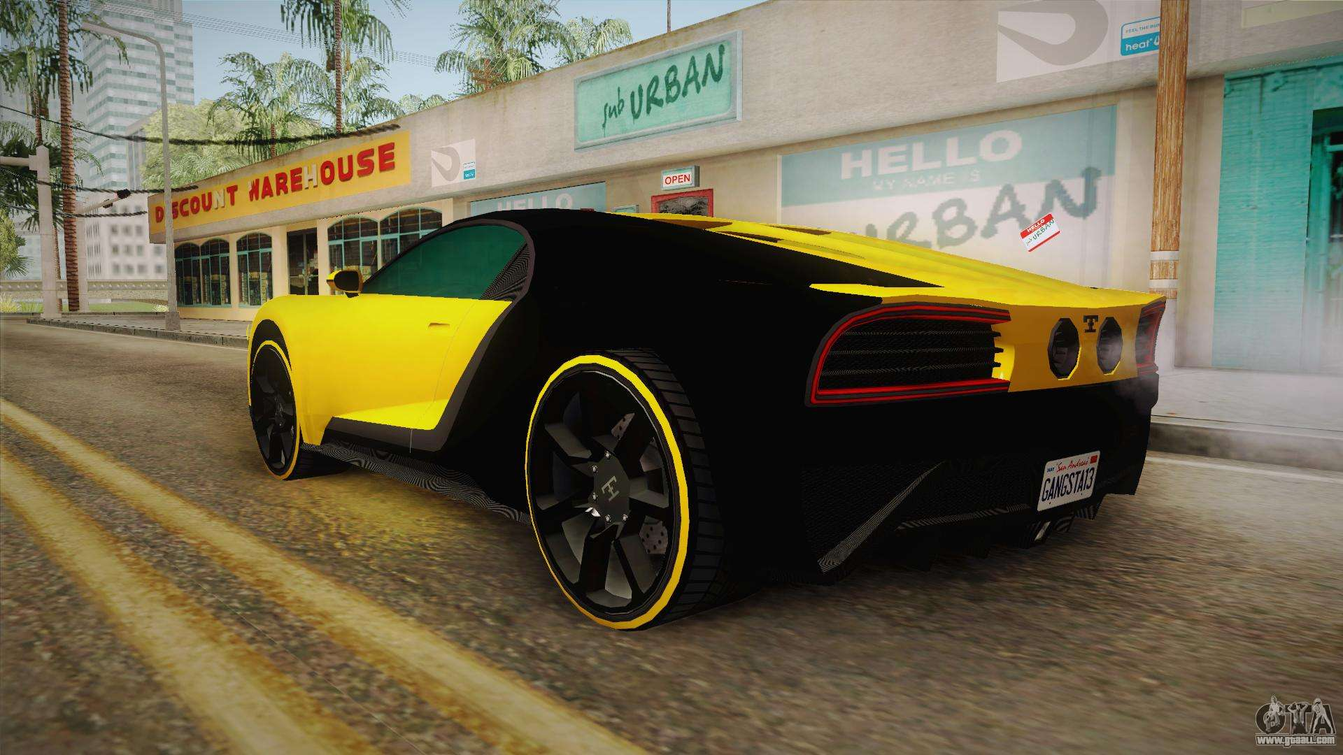 GTA 5 Truffade Nero Custom IVF for GTA San Andreas