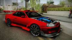 Nissan Skyline R34 Tuned for GTA San Andreas